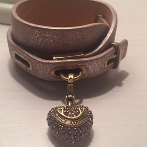 Classic Juicy Couture Cuff Bracelet with Charm